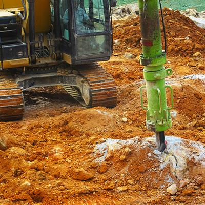 Hydraulic rock splitters (drilling unit)